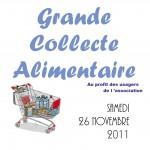 Collecte Alimentaire du 26 Novembre 2011 au profit des Usagers