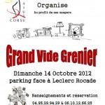 AIUTU CORSU ORGANISE SON GRAND VIDE GRENIER DU 14 OCTOBRE 2012