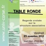 Table Ronde à l'Université de Corse le 23 Novembre Dernier