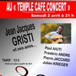 SOIREE SIDACTION - TEMPLE CAFE CONCERT - JEAN JACQUES GRISTI