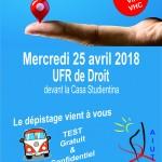 25/04/2018 - Dépistage TROD à l'Université de Corse