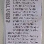 Article de presse sur l'Action au Centre Jean Simi à Île-Rousse
