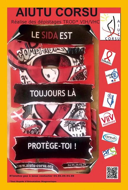 Aiutu Corsu - Affiche campagne estivale de lutte contre le VIH 2020